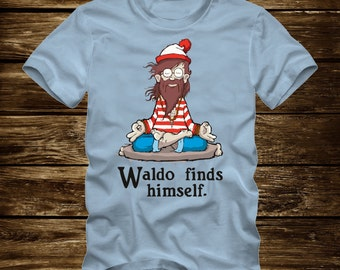 WALDO FINDS HIMSELF - Funny T-Shirt Adult sizes S-3Xl many colors  where's wheres waldo india - 408