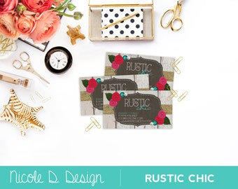 Rustic Chic - Custom Business Cards