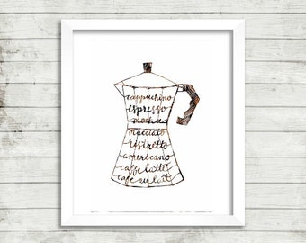 Print : Espresso Yourself - Calligraphy