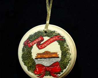 Hand-Made Staten Island Ferry Christmas Ornament