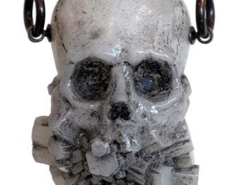 Exploded jaw pendant - white
