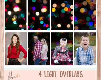 Bokeh colorful light overlays