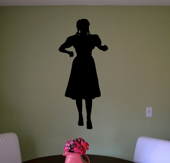 wizard of oz dorothy silhouette wall decal 30 by wall decal the best wizard of oz wall decals wizard of oz