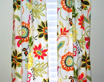 Kitchen cafe curtains -  2 panels/ Tiers - Valance sold seperately / Avery Garden / Kitchen, Bath. Laundry. Bedroom/ Sunroom