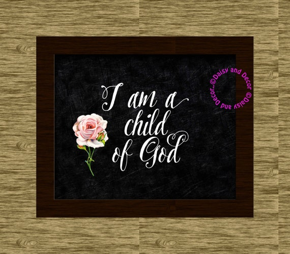 Christian Wall Decor For Nursery : Christian printable art wall decor bible nursery print
