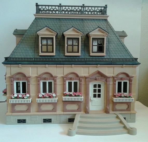 Vintage playmobil mansion 1989 manoir victorien de mini for Mansion de playmobil