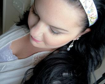 BirdHouse- Spring Bird Printed Non-Slip Headband Hair Accessory, No slip Headband, Headbands, Hair, Spring Headband