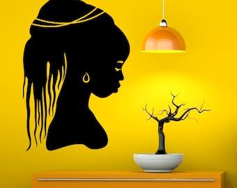African Girl Wall Decal Africa Vinyl Decal Sticker Murals Interior Decor (1afg9)