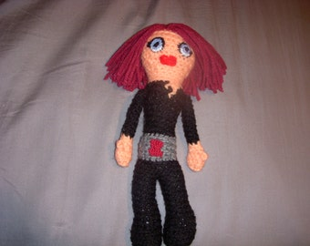 Black Widow Crochet Doll