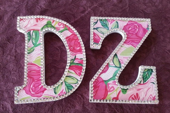 Handmade lilly pulitzer inspired sorority greek by for Lilly pulitzer sorority letters