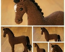 Crochet horse, crochet animal, amigurumi horse - Hayley the Horse, Amigurumi Pattern, Animal Crochet Pattern, Stuffed horse, Softie