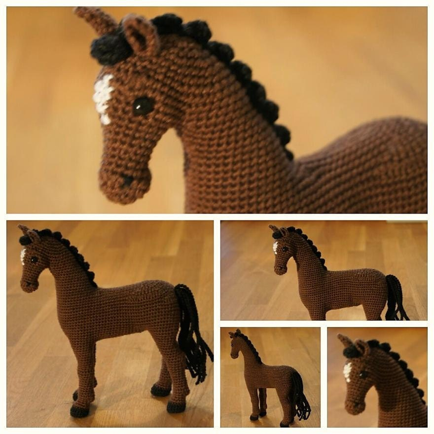 Crochet horse crochet animal amigurumi horse Hayley the