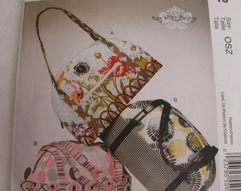 Bags or Totes Pattern, Fashion Accessories, Kay Whitt Design from McCall's, with Zipper and Handles