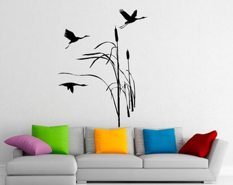 Wild Flying Birds Wall Decal Flock Of Birds Decals Vinyl Stickers Animals Interior Design Art Murals Housewares Bedroom Wall Decor (8b01s)