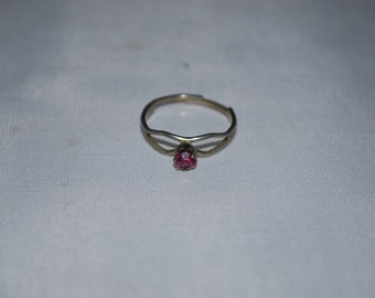 Sterling silver Amethyst ring size adjustable