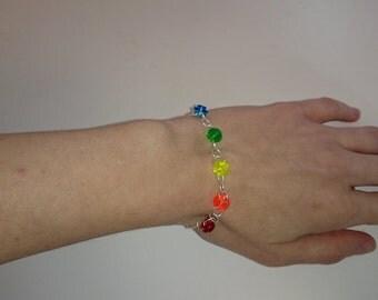 Rainbow Lego Bracelet, Lego Jewelry