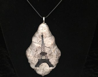 Vintage Eiffel Tower chandelier pendant necklace
