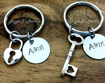 You Hold The Keys To My Heart Keychain Gift Set, Key to my Heart Keychains, Anniversary Gift, Personalized Gift for Couple, His and Hers Set