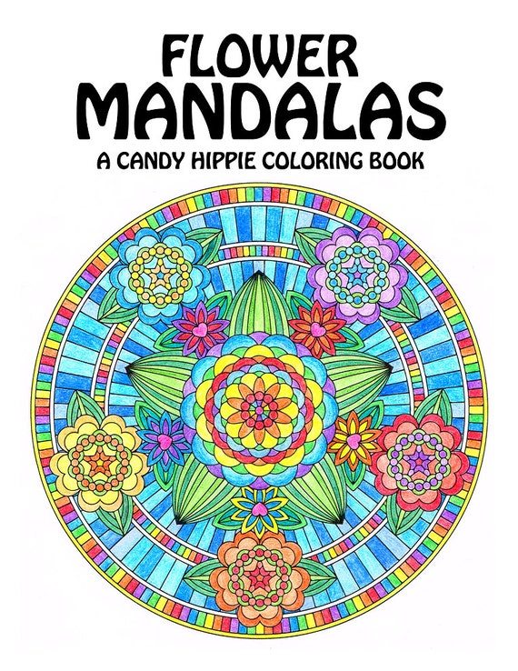 Flower Mandalas Adult Coloring Book Printable Mandala - mini coloring pages for adults