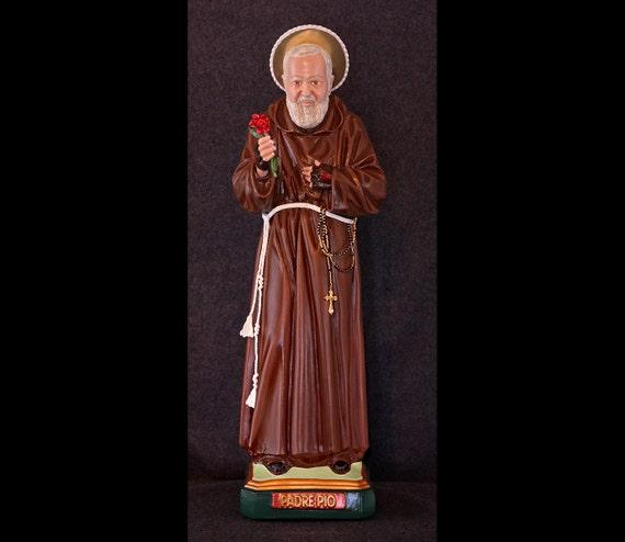 "St. Padre Pio 20"" Catholic Christian Saints Plaster Religious Statue"