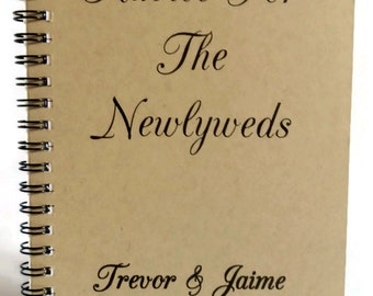 Advice For The Newlyweds Guestbook, Journal, Notebook, Bridal Shower Advice Book, Personalized