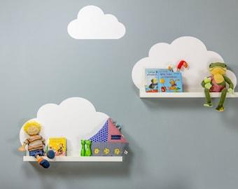 Wolken Sticker für IKEA RIBBA / MOSSLANDA Regale (Möbel nicht inklusive)