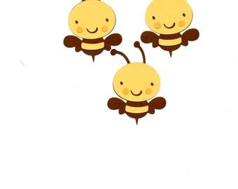 Bumblebee die cut piece set of 3