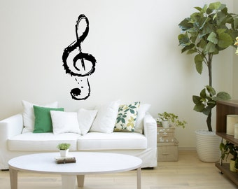 Wall Vinyl Sticker Decals Mural Room Design Pattern Music Notes Melody  bo311