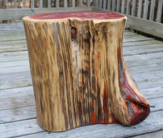 Reclaimed Wood Stump Coffee Table: Stump Table End Table Coffee Table Wood Cake Stand