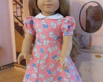 18 Inch Doll Clothes - 1940 Style Dress