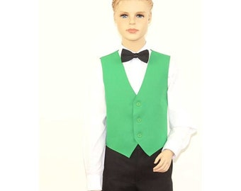 Kids Emerald Green Full Back Dress Vest