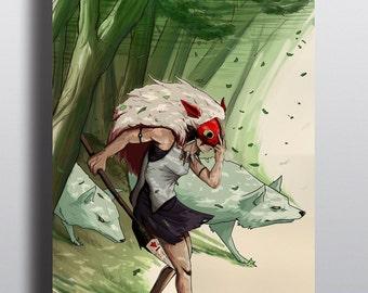 Princess mononoke poster.