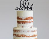 Pop Fizz Clink Glitter Cake Topper