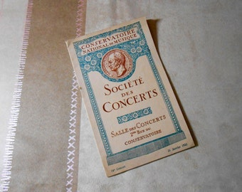 Societe des Concerts 31 January 1932 Programme WORLD WIDE SHIPPING