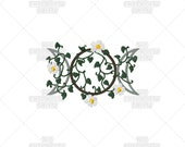 Earth Triplemoon Pagan Wiccan Stylized Sacred Symbol Machine Embroidery Pattern Design