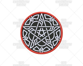 Celtic Pentagram Pentacle Pagan Wiccan Mystical Machine Embroidery Pattern Design