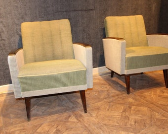 1950's Pair of Modernist Italian Chairs
