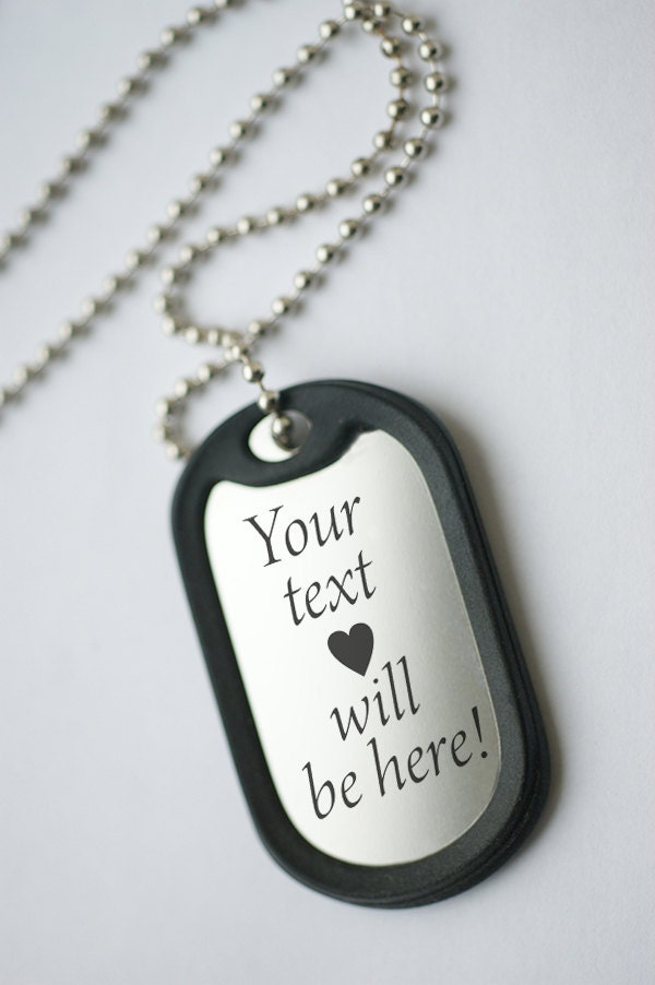 anniversary dog tag personalized mens pendant necklace mens. Black Bedroom Furniture Sets. Home Design Ideas