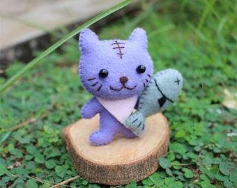 Cat,Cat doll,Animal doll,Felt doll,Felt cat,Felt toy,Baby toy,Doll,Felt,Stuffed toys,Stuffed cat