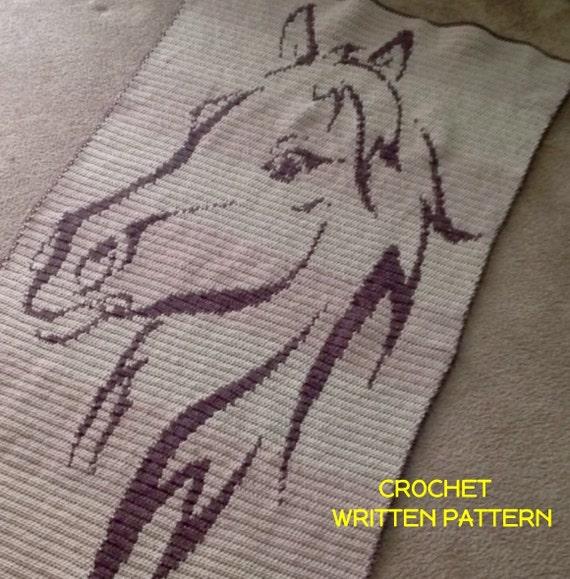Mocha Mare Crochet Blanket Pattern Horse Afghan By