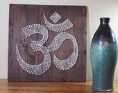 DIY Decor Om Meditation Design Pictures String Omkara Wood String Pattern Aumkara DIY String Art Pranava Art Project Do it Yourself 16 x 16