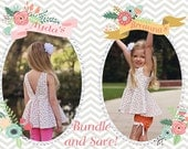 BUNDLE UP: Ayda's & Breanna's. PDF sewing pattern for toddler girl sizes 2t - 12.
