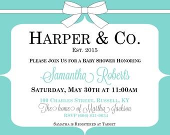 Tiffany's Baby Shower Invite - Custom