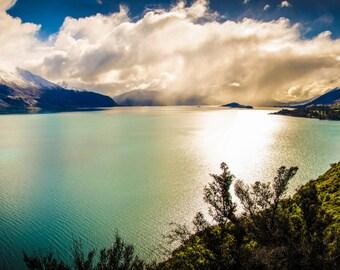 Lake Wakatipu New Zealand 'Digital Download' - Fine Art Landscape Photography - Instant Digital Download Printable