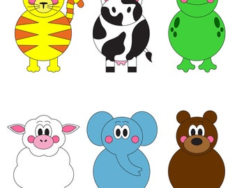 Mix and Match Animals- Printable File Folder Game