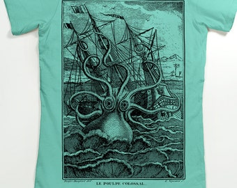 Octopus Women's T-shirt - Women's Octopus Shirt - Kraken Shirt - Pirate graphic tee