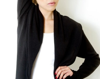 Womens Clothing  Tops Black Cardigan  sweater