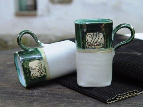 Wedding gift, Coffee or Tea Mugs, Clay mugs, Pottery mugs, Unique mugs ...