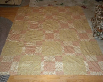 homemade quilt top,72X94, Hidden Nine-Patch pattern