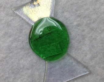 "Wrapped Candy Fused Glass Ornament 2""x3.5"""
